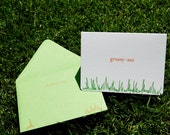 Grassy Ass Flat Printed Greeting Card