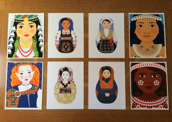 "8 Cultural Folk Dress 8.5""x11"" Prints Proofs / Seconds"