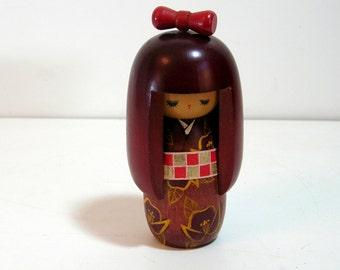 Japanese Kokeshi Doll, Japanese Wood Figurine