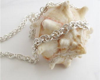 Artisan Sterling Chain Necklace: Handcrafted Unisex Jewelry