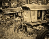 John Deere - Rustic Wall Art, Grunge, Tractor Art, Decay, Rustic Country, Photography, Rustic Decor, Farm, John Deere