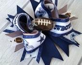 "3.5"" Cowboys Football Bow-Sport Bow-Team Bow-Photo Prop"