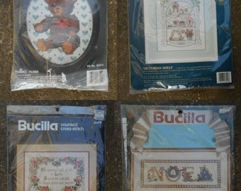 Vintage Counted Cross Stitch Kits (1984, 1990, 1991)