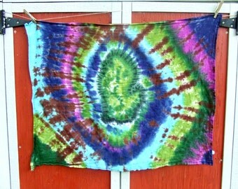 Michigan Tie Dye Tapestry - Smitten with the Mitten - 38in x 30 in. - Ready to Ship