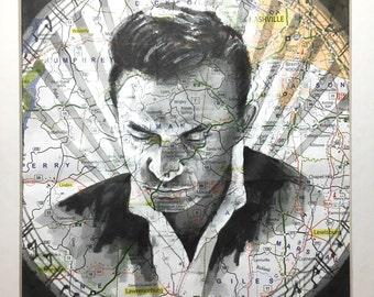 PRINT: Johnny Cash on Tennesee