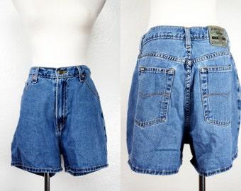 1990s Jordache Jean Shorts Denim Jorts High Waisted Cut Offs Medium Large 90s