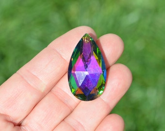 BULK 10 AB Color Crystal Teardrop Pendants GC2762
