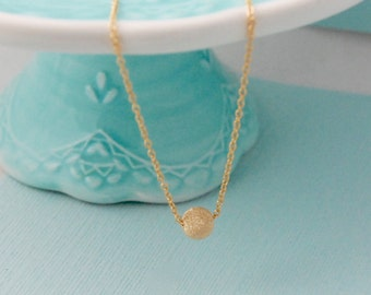 14K Gold fill Stardust necklace / Gold minimalist necklace / Stardust bead