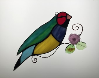 Goulding Finch Suncatcher in Stained Glass