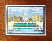 Madison Skyline Note Card