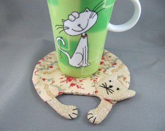 SOLD Cat Lovers Mug Rug