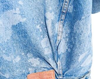 35% OFF SUMMER SALE The Custom Lasered Splatter Print Express Denim Jacket