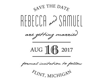 Classic Save the Date Stamp