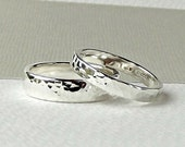 Sterling Silver Wedding Ring - Forged Texture - silver wedding ring-silver wedding band-wedding ring-wedding band-wedding ring set-synergy