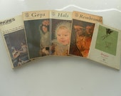 Five little vintage art history softcover books sale