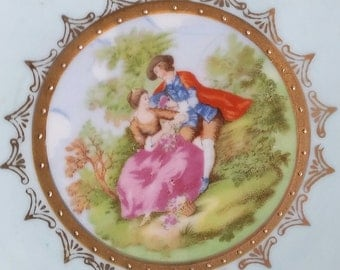 Vintage Couple Courting Decorative Plate