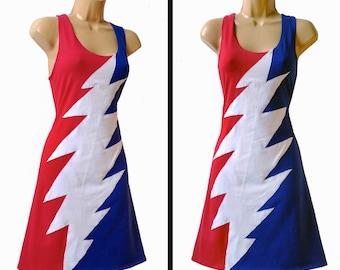 Grateful Dead Stealie Steal Your Face Dress Shirt Tshirt Tank Top Womens Festival Hippie Boho