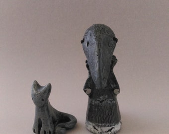 Crow and Cat - Limited Edition Poppet Set #5/50