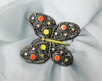 Vintage Butterfly Brooch Signed Art