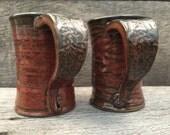2- Mug Set 8oz. in Iron Red