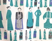 Vintage Tea Towel ICONIC Housewives Too Many Cooks Lucienne Day