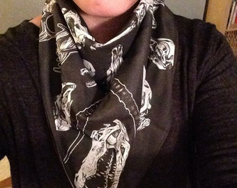 Skull identification scarf