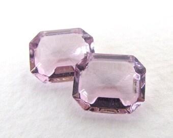 Vintage Rhinestone Swarovski Crystal Light Amethyst Transparent Jewel Octagon 12x10mm swa0689 (2)