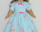 Southern Bell style summer dress and necklace designed for American Girl 18 inch doll   No. 673