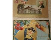 Vintage George Washingon Postcards - Set Of 2