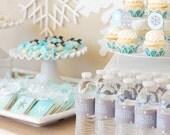 Winter Frozen Snowflake Party Printable