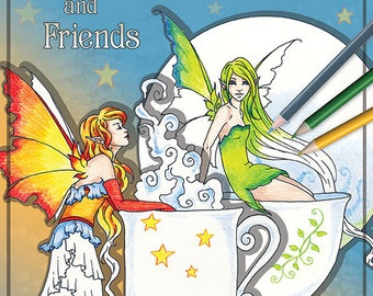 Coloring Book #7 Teacup Faeries and Friends Fantasy by Amy Brown