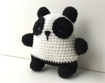 Gift For Kids Panda Bear Plush Toy Amigurumi Crochet Kawaii Plush Panda Bear Stuffed Animal Bear Gift Under 25 Nursery Decor Stuffed Panda