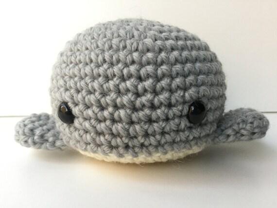 Amigurumi Crochet Pearl Gray Whale Plush Toy Kawaii Plush Whale Nursery Decor Gift Under 25 Whale Plushie Stuffed Animal Whale Stuffie Whale