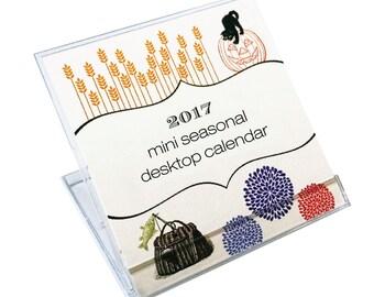 Mini 2017 Seasons Desk Calendar