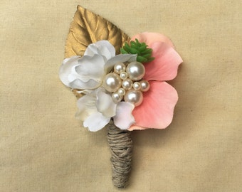 Vintage ladies boutonnière with pearls