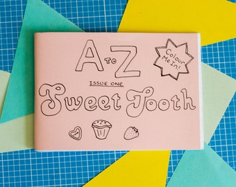 A-Z: sweet tooth colouring in zine