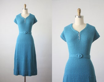 1930s soft cloud sweater dress