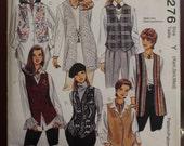 SALE Vintage 1990s Vest Sewing Pattern, Misses Unlined Vest, 1 Hour Vest, Size xs, s, med, 1994