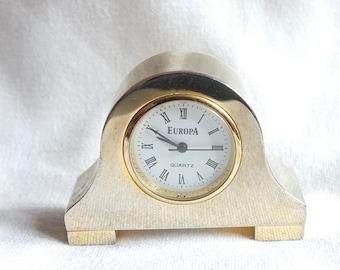 Gold Plated Miniature Clock