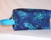 Sea Turtle Batik Project Bag in Caribbean