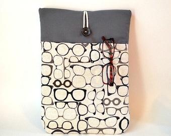 Eyeglass Macbook Air 13 Case Cord Pocket, Laptop Bag, Mac Book Air Sleeve, Padded Cover, Tablet, Eye Glasses Eyewear Men Women Optometrist