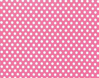 Michael Miller Fabric Kiss dot Polka Dot Blossom Pink