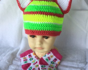 CLEARANCE, Crochet Hat With Socks