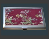 Business Card Case - Vintage Embroidery (Early 19th Century) - Printed Reproduction