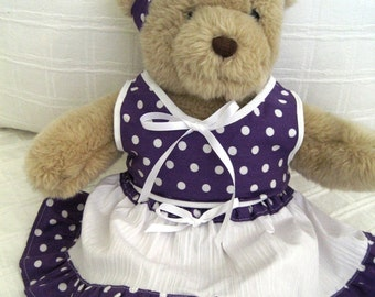Teddy Bear Clothes, Martine Top, Skirt and Headband