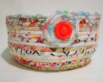 Party Fun Coiled Fabric Bowl