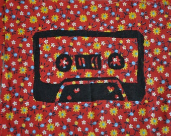 Cassette Tape Fabric Sew On Patch
