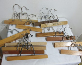 Wood Pants or Skirt Hanger Clamp Note Photo Holder Priced Each