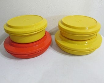 Tupperware Seal N Serve Bowls Set of 4 Take Lunch Along