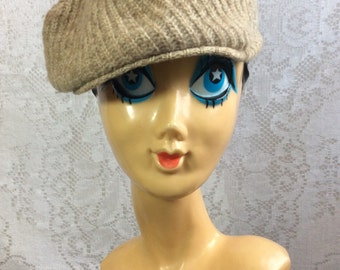 Vintage Brown Knit Hat